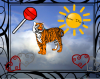 Happy tiger sun dance!